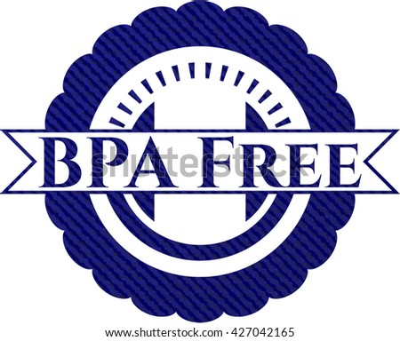 BPA Free emblem with denim high quality background