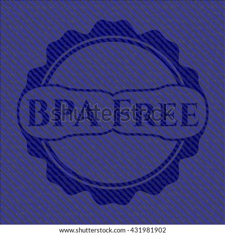 BPA Free emblem with denim high quality background