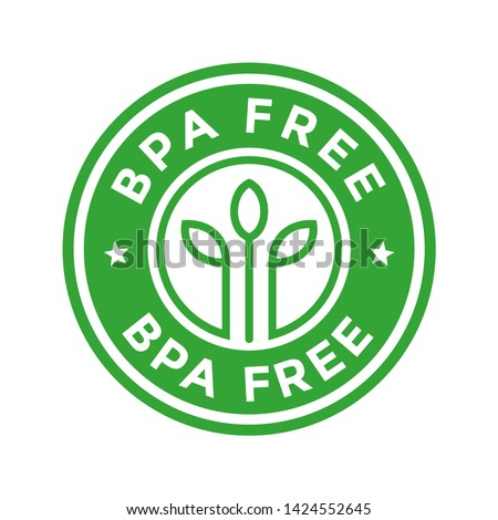 BPA Free. Vector logo template. Can be used for badge. This design is round green.