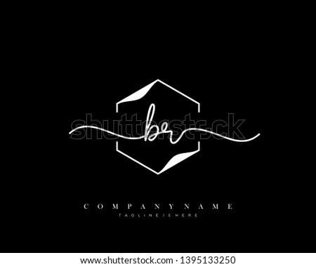 br initial handwriting logo