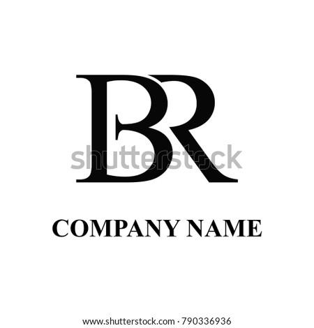 br initial logo design Stock fotó ©