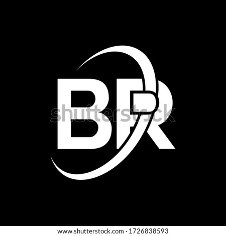 br letter logo design initial