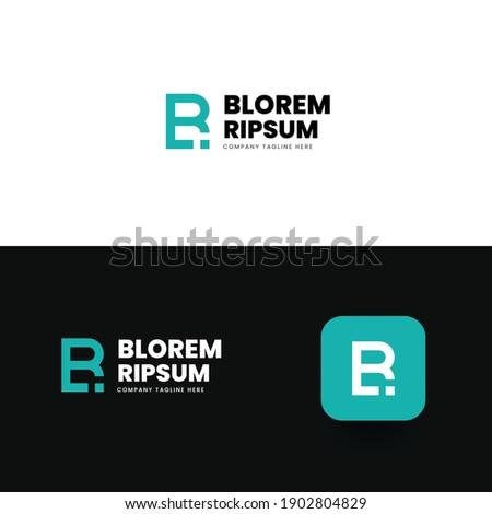br monogram logo design b and