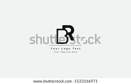 br or rb letter logo unique