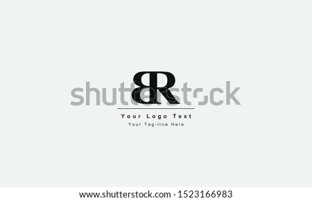 BR or RB letter logo. Unique attractive creative modern initial BR RB B R initial based letter icon logo Stock fotó ©