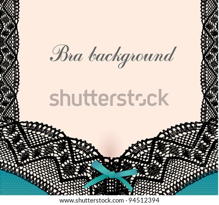 Bra with lace abstract background.