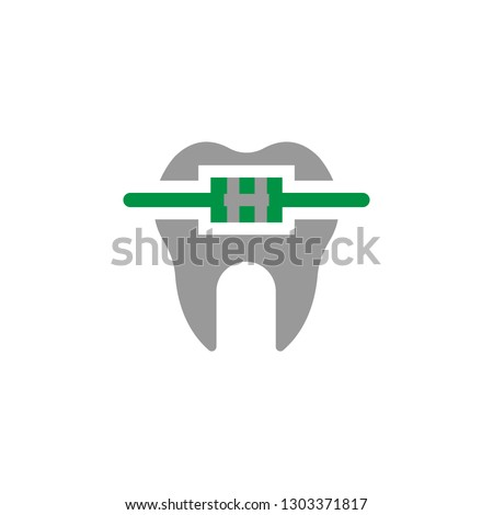 Brace and brackit icon. Element of Dental Care icon for mobile concept and web apps. Detailed Brace and brackit icon can be used for web and mobile