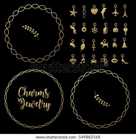 Bracelet with charms pendants vector