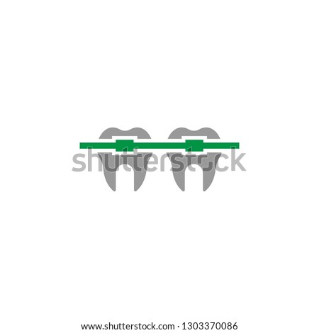 Braces and orthodontic icon. Element of Dental Care icon for mobile concept and web apps. Detailed Braces and orthodontic icon can be used for web and mobile