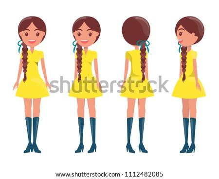 braided brunette in modern
