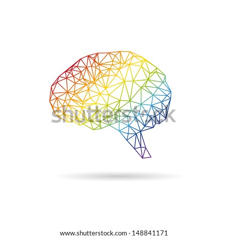 Brain abstract isolated on a white backgrounds. Vector illustration