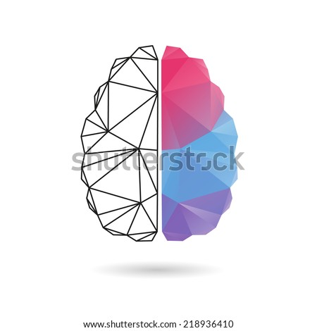 brain abstract isolated on a