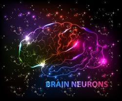 brain bokeh abstract light background
