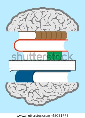 Brain books sandwich