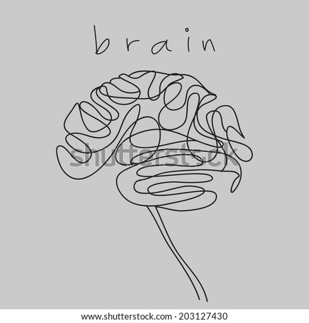 brain doodle hand drawn