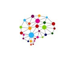 Brain Dot Link Mind Logo Design Template