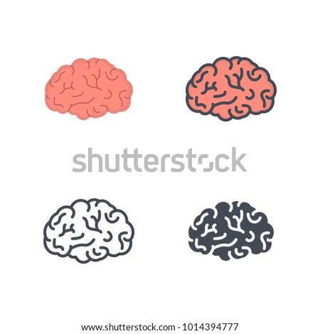 Brain flat vector icon