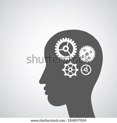 Brain gears symbol concept for idea
