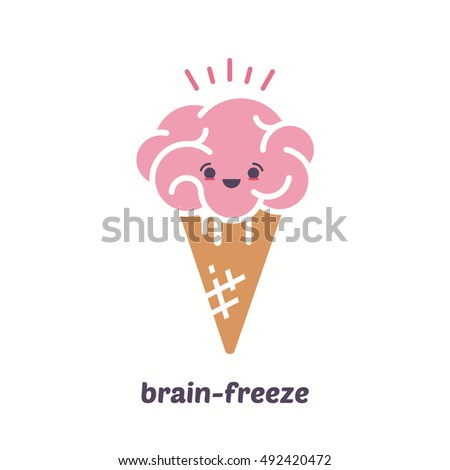 brain ice cream  brain  freeze