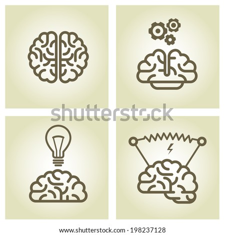 brain icon   invention and