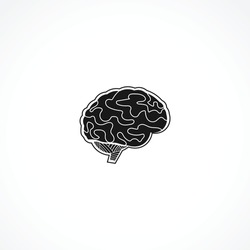 brain icon. isolated on white
