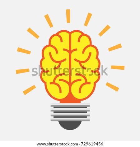 brain icon light bulb