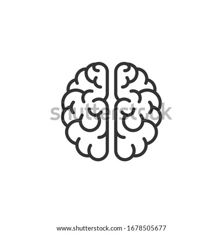 brain icon template color editable. brain symbol vector sign isolated on white background.