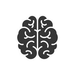 Brain Icon Vector Illustration. Logo Template.