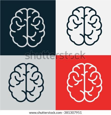 brain icon vector.logo design