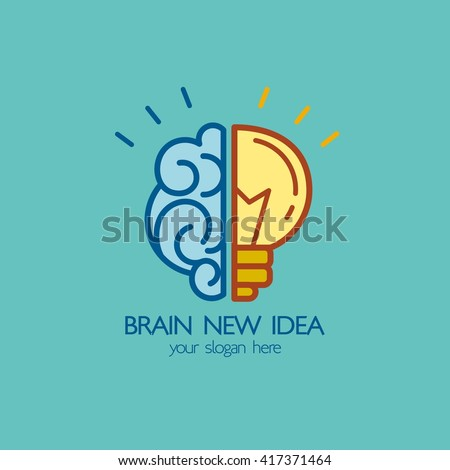 brain idea design badges symbol concept and logo idea design - Idea Design