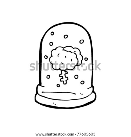 brain in jar cartoon
