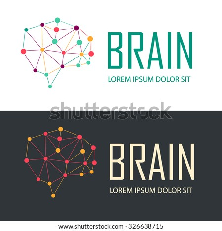 Brain Logo creative design vector template. Generate idea. Brain tree logo, education logotype, creative logo, school logo, study logo concept icon.