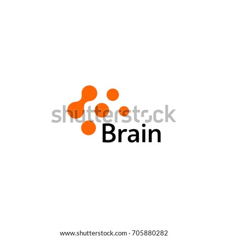 Brain Logo silhouette design vector template. Think Idea concept. Brain storm power thinking logotype icon. Isolated abstract unusual creative digital brainstorming idea symbol.Machine learning.