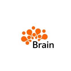 Brain Logo silhouette design vector template. Think idea concept.Brain storm power thinking brain Logotype icon