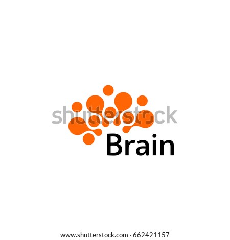Brain Logo silhouette design vector template. Think idea concept.Brainstorm power thinking brain Logotype icon Logo