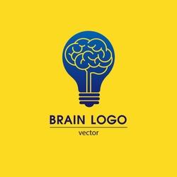 Brain Logo Template. Vector.