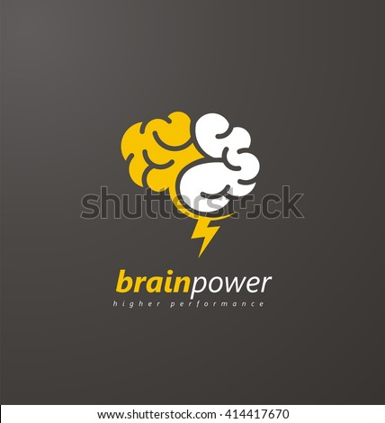 brain logo vector design layout