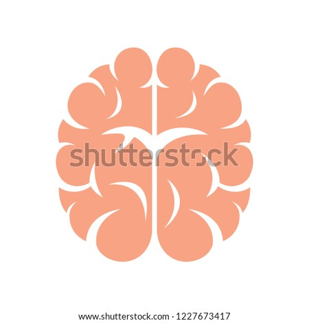 Brain, mind or intelligence flat vector icon for apps and websites