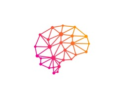Brain Network Logo Design Template