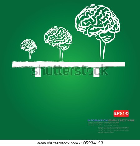 Brain sign ,Vector