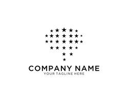 Brain Stars logo designs concept vector, Brilliant and Brain logo template designs