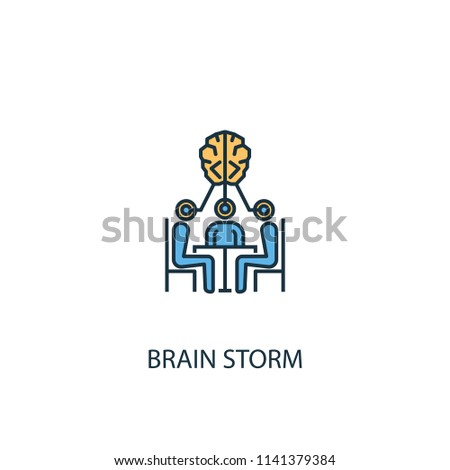 brain storm concept 2 colored