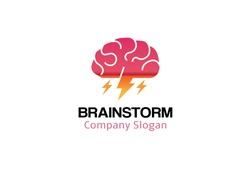Brain Storm Logo Design Illustration