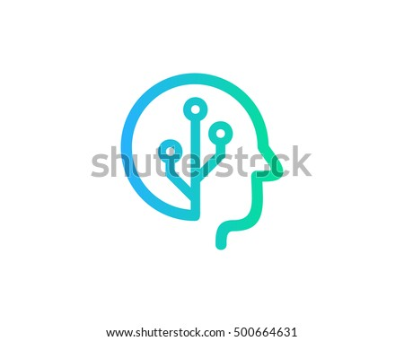 Brain Tech Mind Data Logo Design Template