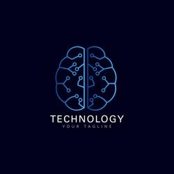 Brain technology smart logo icon design template