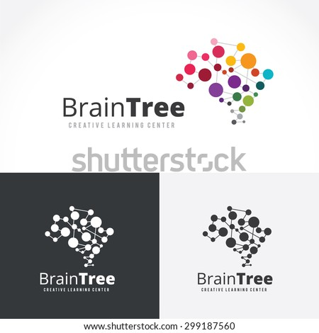 Brain Tree,brain logo,mine,creative,learning logo,eduction logo,school,kids,arts vector logo