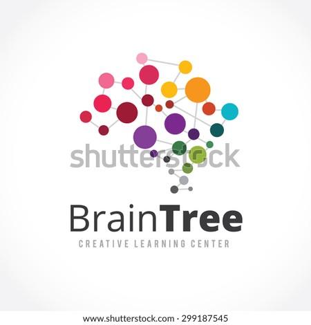 Brain Tree Creative Learning Logo Template