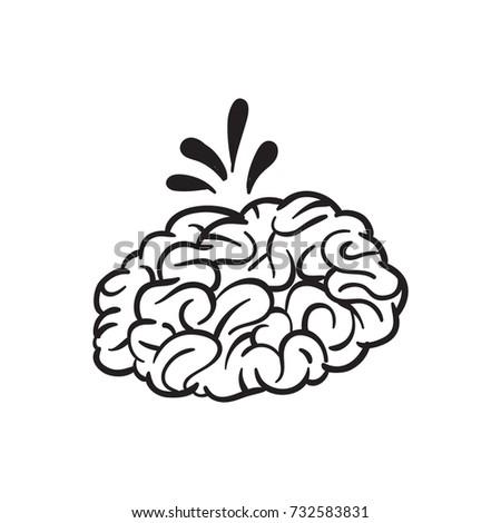 brain vector cartoon