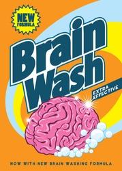 brain wash retro pack design