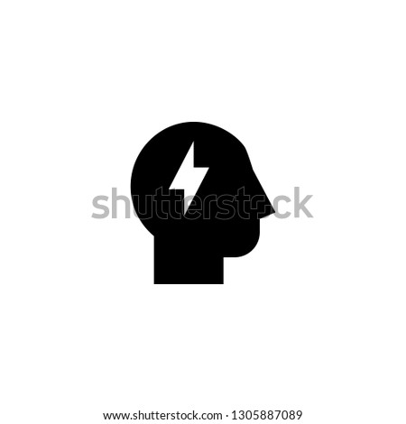 brainstorm icon vector. brainstorm vector graphic illustration